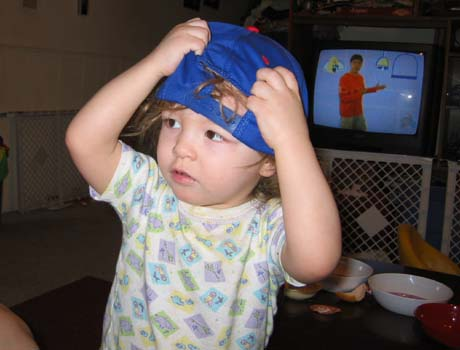 my grandson, Brian with a hat!